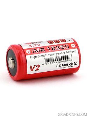 Батерия Efest 18350 IMR 800mAh 3.7V Nipple top