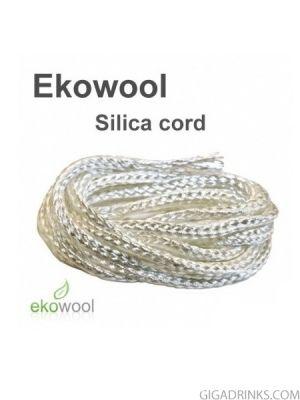 Фитил за електронни цигари Ekowool с памучна сърцевина 1мм / 1м