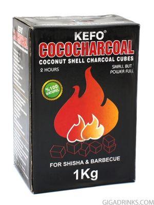 Въглени за наргиле Kefo Cococharcoal 1кг
