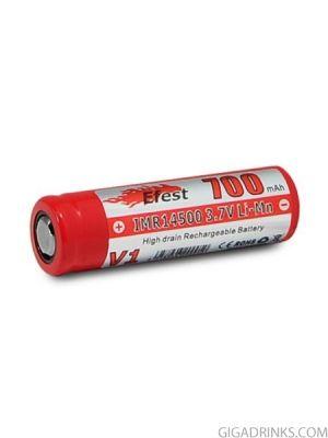 Батерия 14500 Efest IMR 700mAh 3.7V Flat top