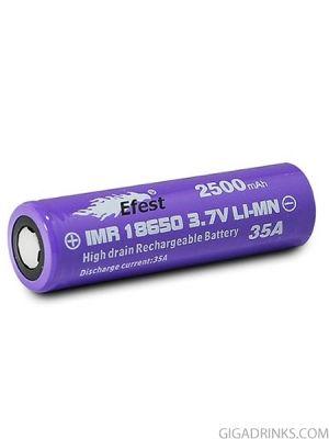 Батерия 18650 IMR Efest 2500mAh 35A 3.7V Purple