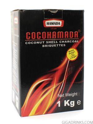 Въглени за наргиле Кокохамада 1кг